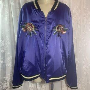 Forever 21 satin-feel 3X New York Jacket